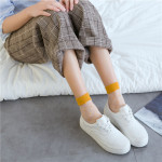 Spring Summer Socks Japanese Kasi Little Round Glass Fiber Socks Wild College Wind Ankle Stockings - Light Blue One Size