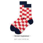 Japanese Electricity Supplier Socks In Tube Socks Plaid Stripe Lovers Street Style Skate Socks - 19176-1 Pinstripe One Size