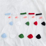 Summer Thin Socks Japanese Glass Silk Socks Wound Paste OK Stretched Silk Stockings Socks Tide Ankle Stockings - Black One Size