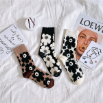 20 Stockings Flowers Wind Socks Cotton Socks Little Red Book Personalized Recommendations Tide Wild - White One Size