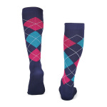 Diamond Compression Stockings Outdoor Marathon Running Off-road Riding Breathable Socks Volleyball Socks - Powder L / XL