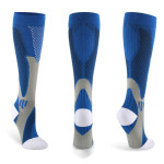 Knee High Basketball Compression Socks Quick Dry Outdoor Breathable Adult Riding Shaft Running Socks - Black L / XL