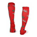 Christmas Compression Socks Outdoor Horse Riding Running Quick Dry Breathable Sports Socks Boots Comression Scoks - A Section S / M
