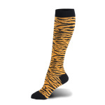 Leopard Print Compression Sock Quick Dry Breathable Sports Leisure Socks for Flying Trainer Socks - Tiger Stripes EU 39-46