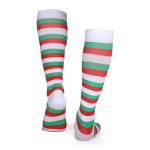 Outdoor Christmas Compression Sock Stripes Running Fast Dry Breathable Adult Riding Socks Trainer Socks - A Section S / M