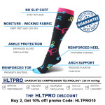 Quick Dry Knee High Basketball Compression Socks Compression Stockings Outdoor Running Breathable Cycling Adult Sports Socks - A Section L / XL