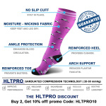 Breathable Knee High Basketball Compression Socks Running Compression Stocckings Outdoor Riding Off-road Quick Dry Sports Socks - A Section L / XL
