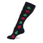 Four Seasons Compression Stockings Knee High Fruit Outdoors Men Women Riding Running Quick Dry Breathable Sports Socks  Trainer Socks - Black L / XL