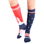 Flags Compression Sock Outdoor Cycling Marathon Running Socks Breathable Wicking Volleyball Socks - American Flag S / M