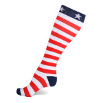Flags Compression Sock Outdoor Cycling Marathon Running Socks Breathable Wicking Volleyball Socks - American Flag L / XL