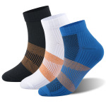 Copper Fibers Compression Sock Quick Dry Outdoor Running Socks Breathable Adult Sports Socks Trainer Socks - Black S / M