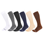 Spring Autumn Winter Men Sports Breathable Compression Stockings Men Casual Solid Color Football Compression Socks Knee High Socks - Color One Size