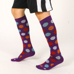 Ski Compression Socks Over the Knee Spring Winter Men Stockings Absorb Sweat Breathable Girls Sports Socks  - Purple XL