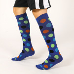 Ski Compression Socks Over the Knee Spring Winter Men Stockings Absorb Sweat Breathable Girls Sports Socks  - Blue XL