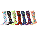 Ski Compression Socks Over the Knee Spring Winter Men Stockings Absorb Sweat Breathable Girls Sports Socks  - Purple SM