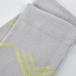 Knee High Basketball Compression Socks Running Compression Socks Men Sports Casual Socks Pressure Leg Socks for Travel - Gray Sm