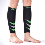 Footless Men Sports Socks Leg Protective Sleeve Elastic Leg Cuffs Protection Men Women Socks for Varicose Veins - Black One Size