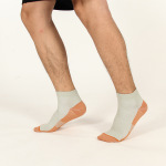 Men Compression Socks Male Casual Sports Socks Spring Autumn Winter Spell Color Breathable Non Ship Socks for Travel - White Square Foot One Size
