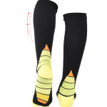 Leggings Stockings Men Women Running Sports Socks Absorb Sweat Socks Football Decompression Knee High Socks - Green SM