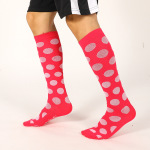 Polka Dots Ski Compression Socks Over the Knee Spring Winter Sports Socks Absorb Sweat Breathable Sports Leisure for Men Women - Orange XL