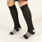 Ski Compression Socks Male Sports Socks Spring Autumn Winter Men Breathable Spell Color Over the Knee High Socks - Duplex Sm