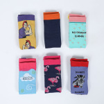 Animal Rainbow Socks Male Sports Socks Spring Winter Men CasualKnee High Socks Cartoon Boots Compression Socks - Zebra SM