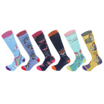 Animal Rainbow Socks Male Sports Socks Spring Winter Men CasualKnee High Socks Cartoon Boots Compression Socks - Fox SM