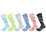 Ski Compression Socks Calf Winter Sports Socks For Men Women Breathable Absorbent Socks Solid Knee High Leisure Socks for Flying - Black XL