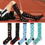 Men Winter Compression Socks Sports Calf Socks Breathable Absorbent Stockings for Varicose Veins - Bee XL