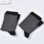 Toeless Ankle Sleeves Foot Care Socks Cotton Men Socks Nurses Compression Socks for Flying - Black One Size