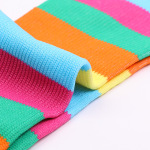 Leisure Sports Socks Breathable Absorbent Stripe Nylon Stockings Volleyball Socks for Travel - Light Blue SM