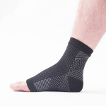 Toeless Ankle Sleeves Dots Patterned Men Compression Socks Male Sports Stockings for Varicose Veins - Black XL