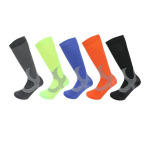 Calf Socks Winter Sports Men Women Fashion Socks Jacquard Pattern Letters Compression Socks - Gray SM