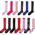 Varicose Veins Compression Socks Men Women Fall Winter Calf Socks Socks Sports Leisure Compression Stockings for Travel - Red Mandrel SM