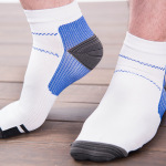 Men Ankle Compression Socks High Elastic Anti-friction Socks Fashion Breathable Outdoor Socks - Yellow XL