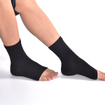Toeless Ankle Sleeves Elastic Support Nylon Socks Outdoor Sports Socks Breathable Mountaineering Compression Socks - Color One Size