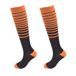 Striped Ski Compression Stockings Pressure Calf Socks Outdoor Sports Compression Socks Absorbent Breathable Running Socks - 2 S / M
