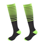 Striped Ski Compression Stockings Pressure Calf Socks Outdoor Sports Compression Socks Absorbent Breathable Running Socks - 2 X / XL