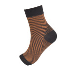 Toeless Ankle Sleeves Socks Motion Permeable Protective Socks Striped Bare Compression Sock - 2 L / XL