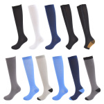 Footless Leg Sleeve Knee High Basketball Compression Socks Gradient Compression Hosiery Breathable Pressure Socks for Varicose Veins - 6 L / XL