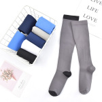 Footless Leg Sleeve Knee High Basketball Compression Socks Gradient Compression Hosiery Breathable Pressure Socks for Varicose Veins - 5 L / XL