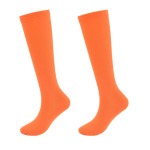 Ski Compression Socks Compression Stockings Adult Solid Color Breathable Non Slip Motion Legs Socks for Varicose Veins - Orange L / XL