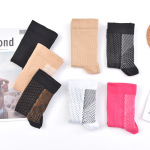 Toeless Ankle Sleeves Pressure Compression Stockings Casual Non Slip Socks for Travel - 3