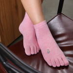 Pure Cotton Socks Toe Socks Female Dongkuan Korean Women Breathable Toe Socks - Blue One Size