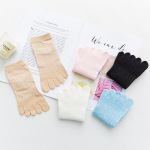 Toe Socks Female Summer Thin Section Mesh Cotton Leisure Short Tube Socks Toe Socks Solid Color Socks - Pink One Size