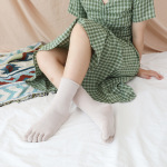 Toe Socks In Tube Female Cotton Candy Colored Lace Absorb Sweat Dongkuan Warm Socks Toe Socks - Yellow One Size