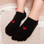Ms. Five Fingers Socks Spring And Summer Cotton Socks Invisible Toe Toe Socks Breathable Absorbent Socks - Gray One Size