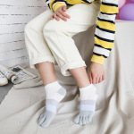 Ms. Cotton Socks Toe Socks Spring And Summer Japan And South Korea Ins Duantong Wind Socks Girls Points Toe Socks Student - Blue One Size