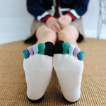 Japanese Female Toe Socks Cotton Tube Socks Autumn And Winter Spell Color Refers To The Color Piles Of Socks Toe Socks - Red One Size