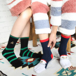 Christmas Toe Socks In Tube Female Cotton Dongkuan Cartoon Christmas Socks Absorb Sweat Warm Toe Socks Gift Box - Gift Box One Size
